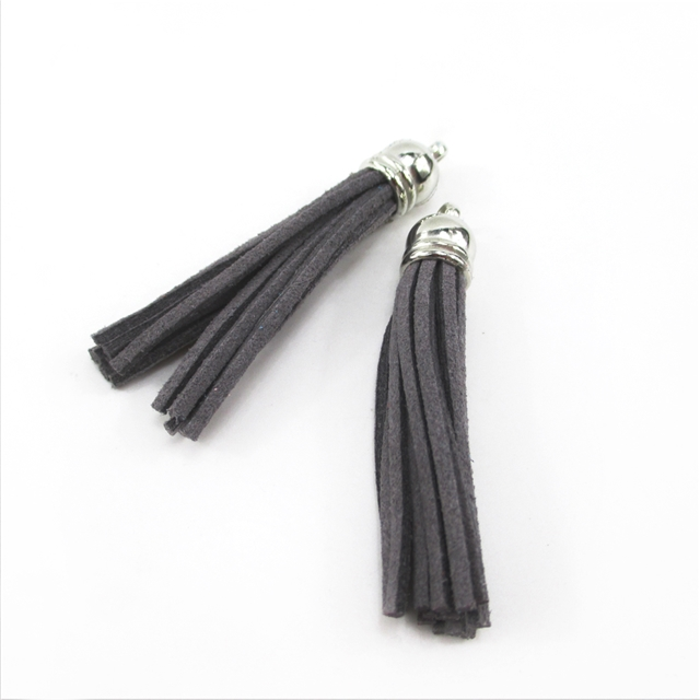 silver length:5.8cm velet tassel pendant DIY for key chain silver head