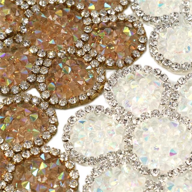 53*53mm back with glue drill rhinestone crystal