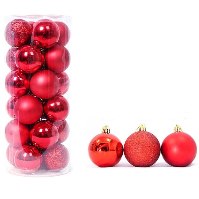 18*6cm  3cm Christmas decoration ball(24piece/PACK)