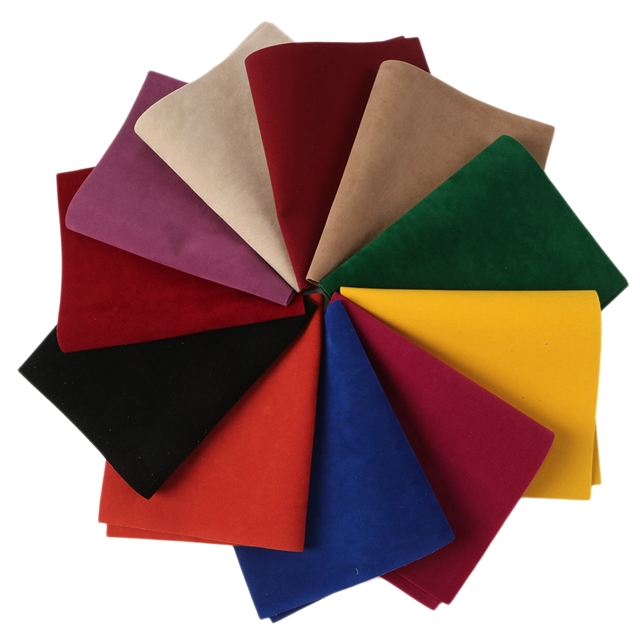 20*34cm 20*34cm Double sided velvet  synthetic leather Double sided velvet synthetic leather set(11piece/set)