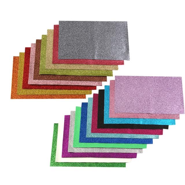 34*20cm glitter pvc superfine glitter pvc(21piece/set)