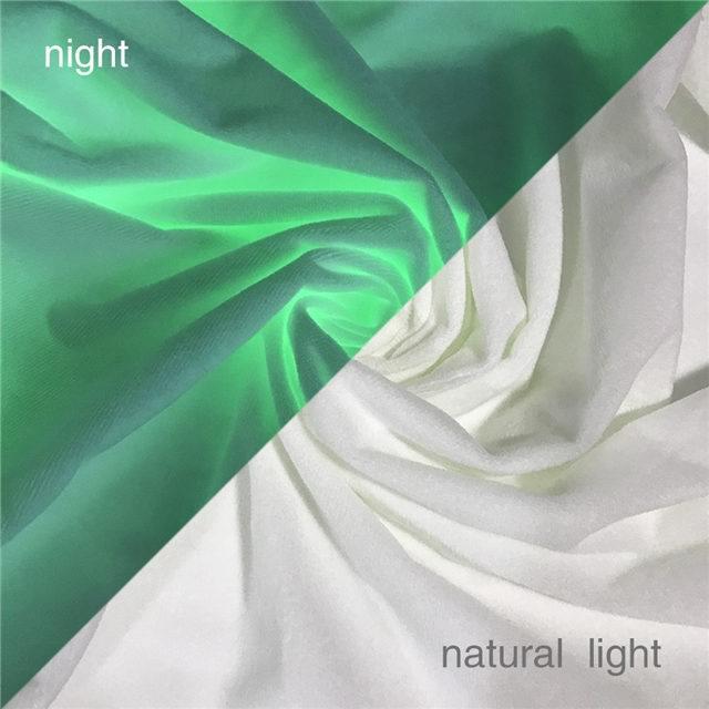 50*140cm 50*140cm glow in the dark 100% polyester Noctilucent plush fabric