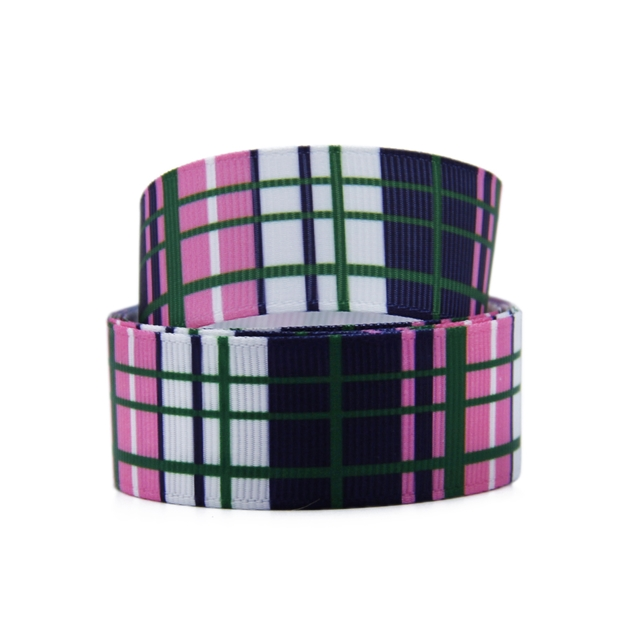 "7/8"" 22mm heat transfer printed grosgrain ribbon"