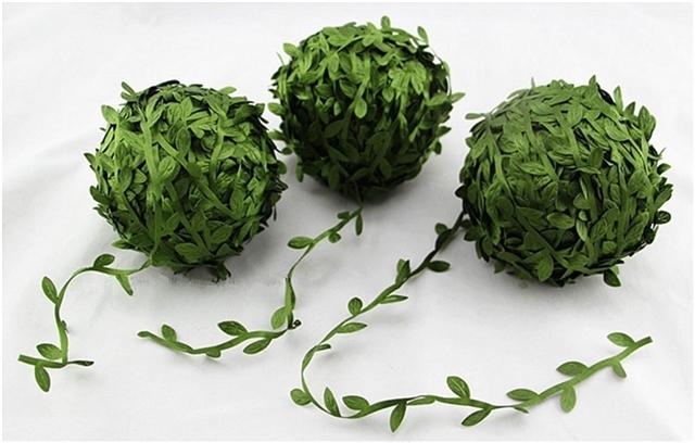 green plastic Cane leaf