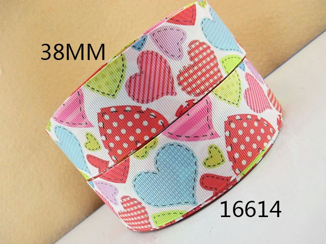 "1.5"" 38mm heat transfer printed grosgrain ribbon"