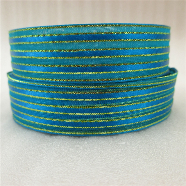 width:20mm gold metallic ribbon