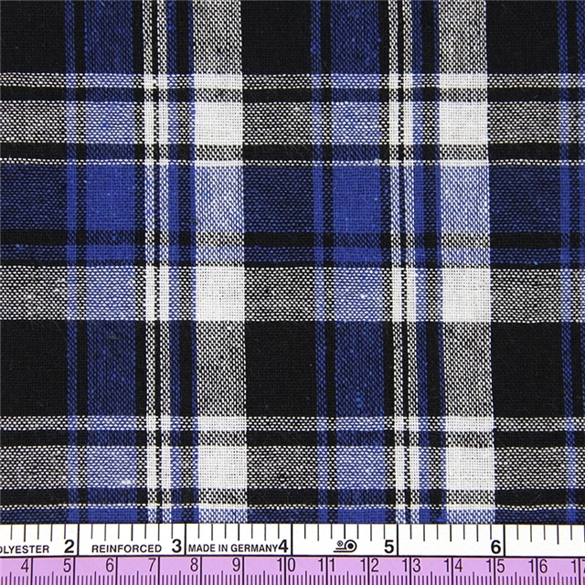 50*147CM heat transfer cotton black blue plaid fabric