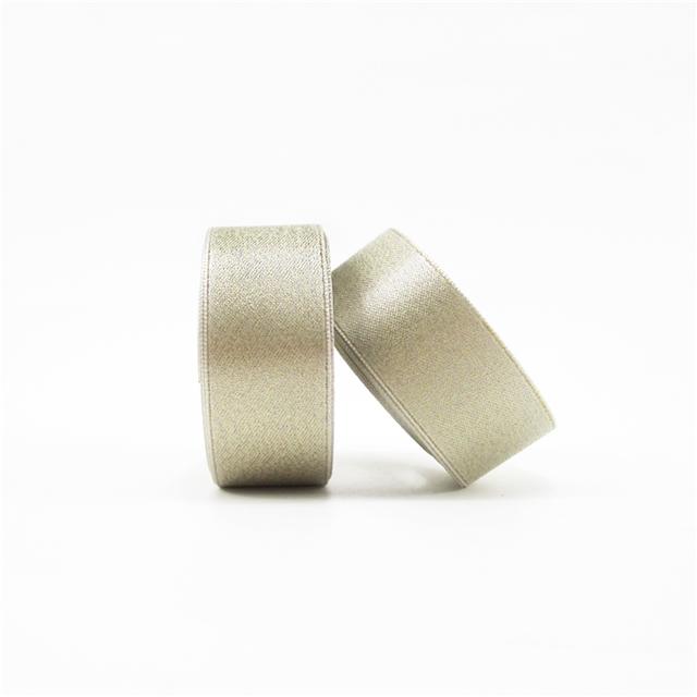 "7/8"" 22mm gold line satin gold line ribbon"