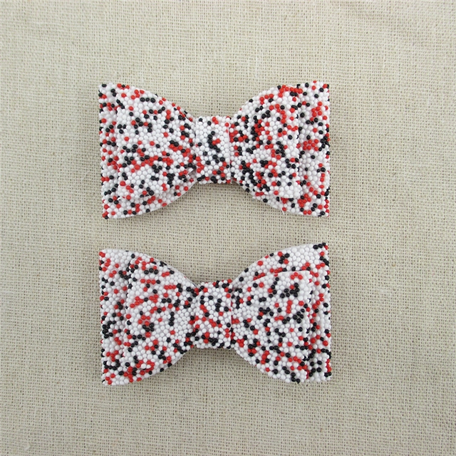 70*40mm synthetic leather bead knot-bow