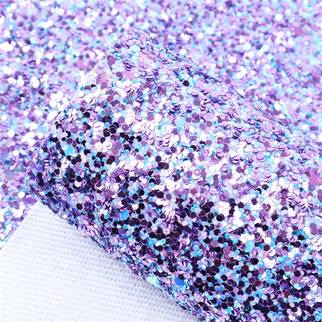 chunky glitter synthetic leather