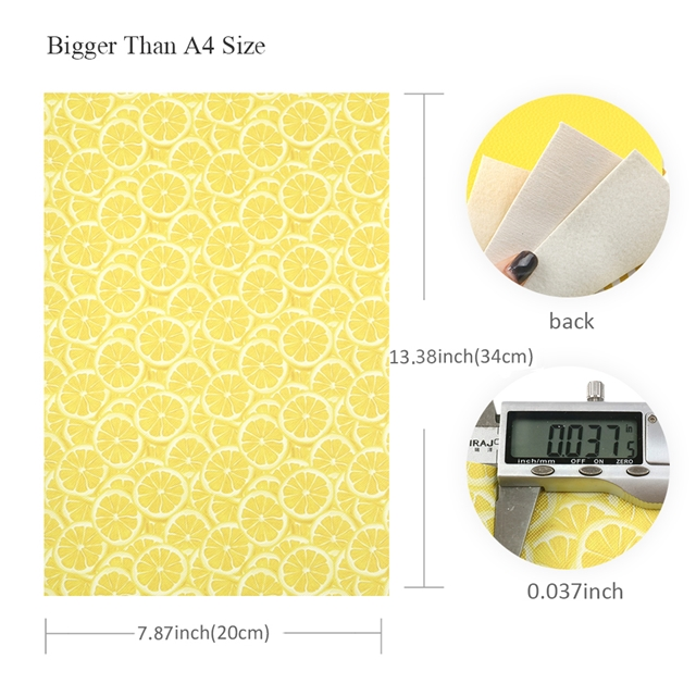 20*33cm 20*33cm synthetic leather yellow series fruit synthetic leather set(5piece/set) yellow series fruit synthetic leather set(5piece/set)