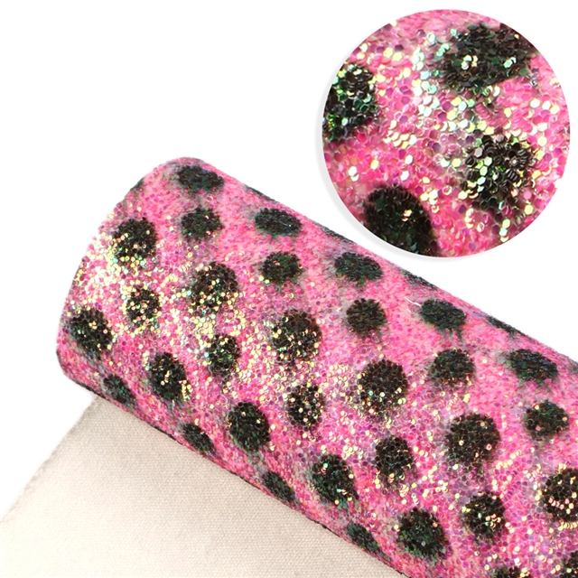 thickness:0.7mm glitter synthetic leather printed crude glitter Synthetic leather