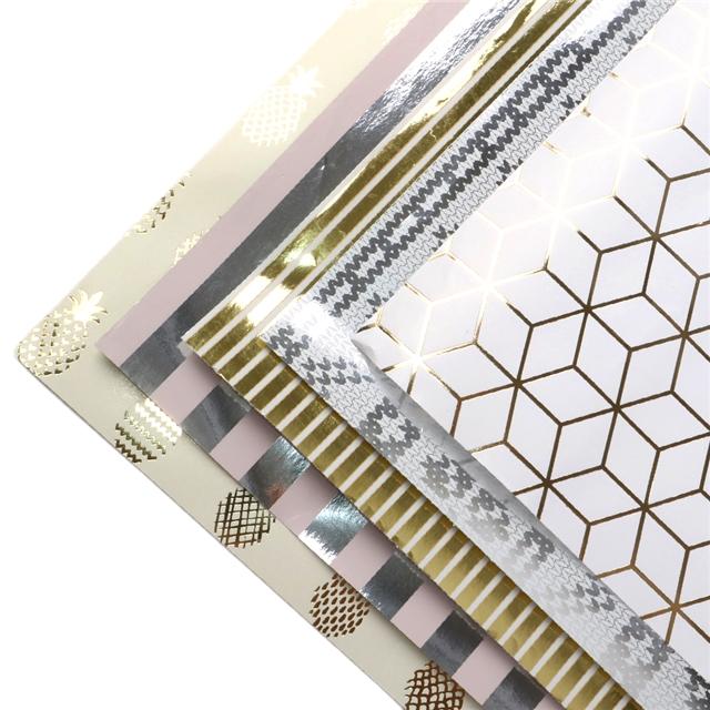 50*70cm 50*70cm gold silver packing paper set(5pieces/set)