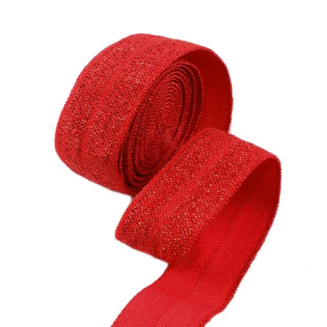 "5/8"" 16mm GLITTER FOE elastic ribbon"