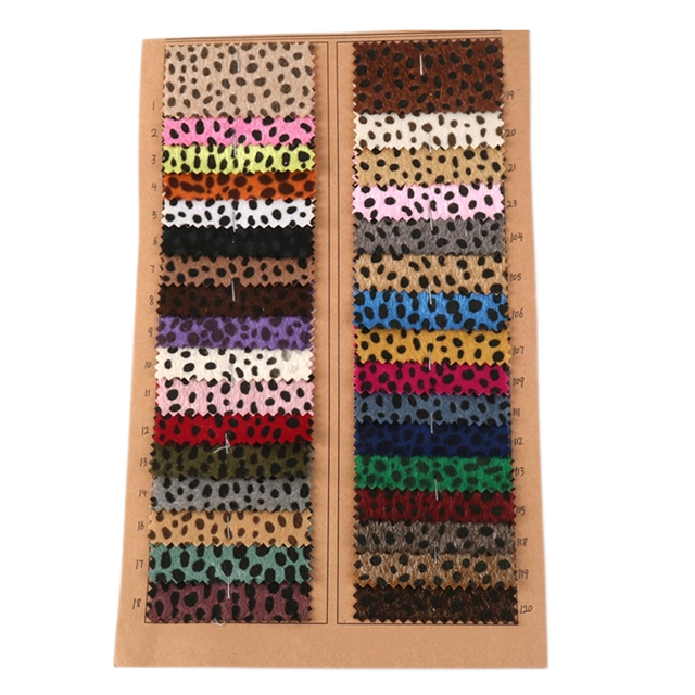 plush synthetic leather plush leopard print synthetic leather