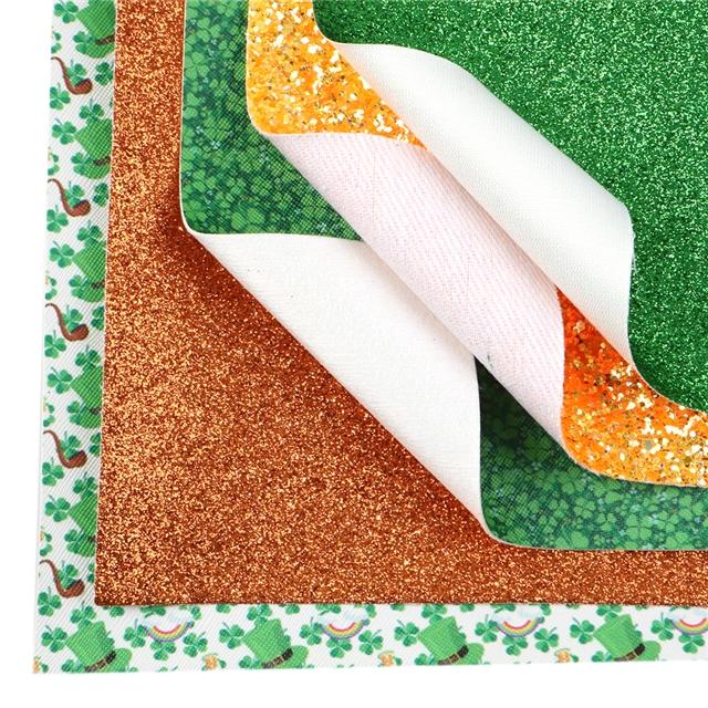 20*34cm 20*34cm synthetic leather st Patrick saint Patrick synthetic leather set(7piece/set)
