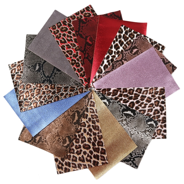 15*21cm 15*21cm synthetic leather A5 leopard litchi synthetic leather set(15piece/set)