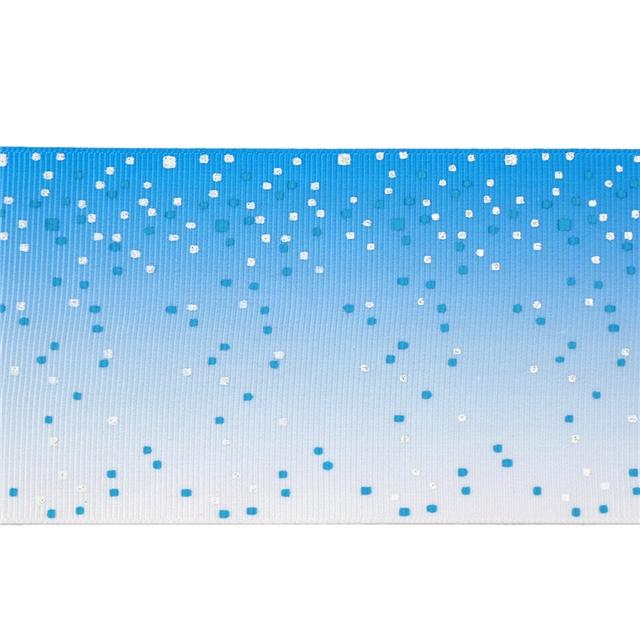 "3"" 75mm 热转印+撒粉 heat transfer printed glitter ribbon"