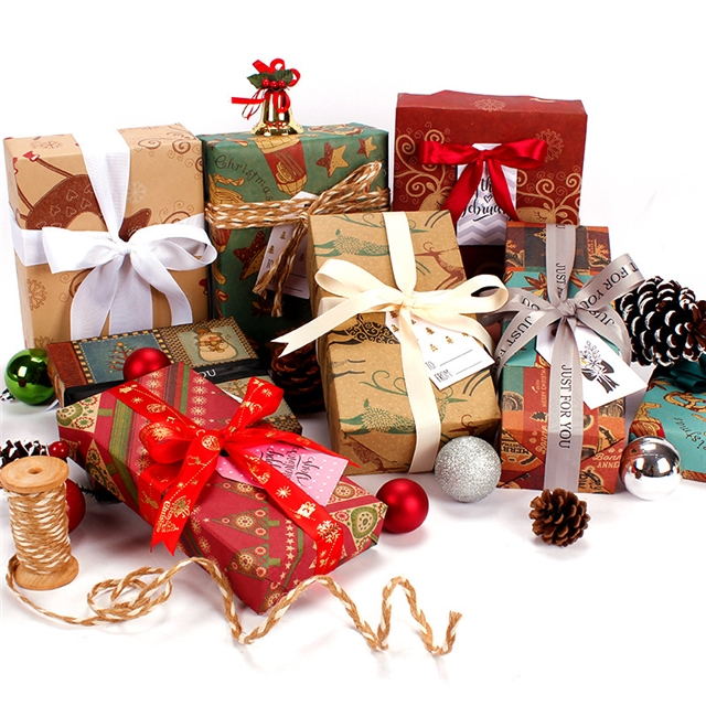 50*70cm 50*70cm Kraft paper Cowhide Christmas wrapping paper