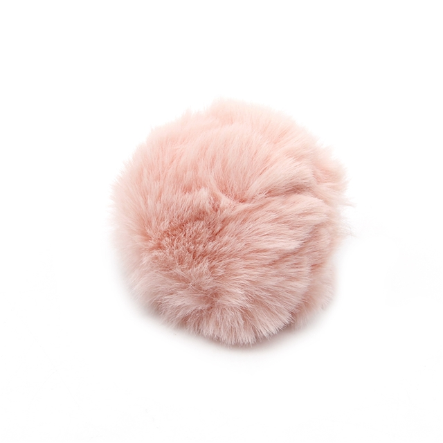 about80x80mm about80x80mm pom Hair ball(with leather bands)