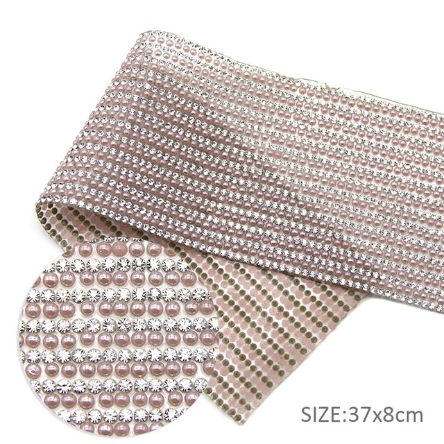 pink 37*8cm 37*8cm back with glue drill rhinestone crystal