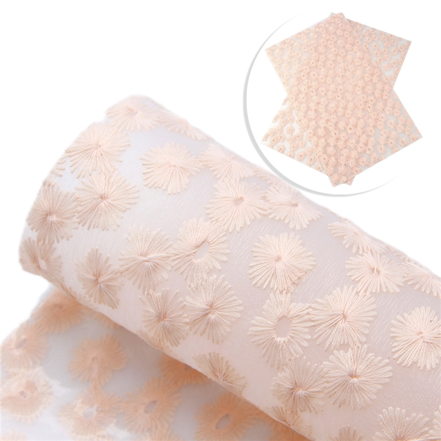synthetic leather knitted florets Jelly bottom synthetic leather