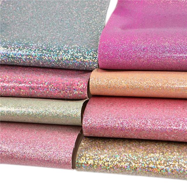 20*34cm 20*34cm holographic glitter synthetic leather set(8pieces/set)