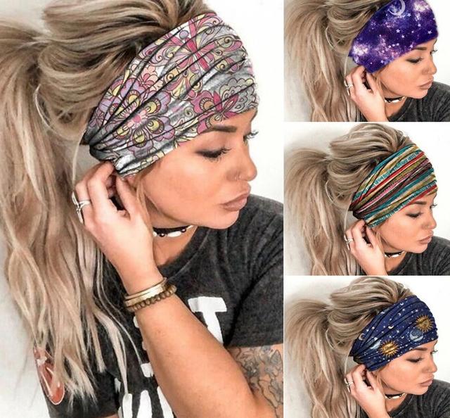 24*11cm 24*11cm 91% polyester+9% spandex yoga exercise wide headband