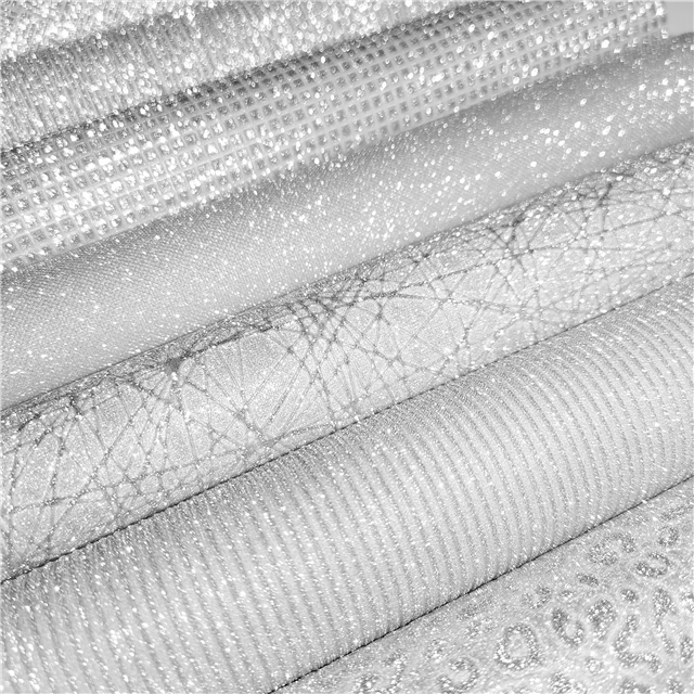 synthetic leather bump texture silver series geometric pattern glitter synthetic leather