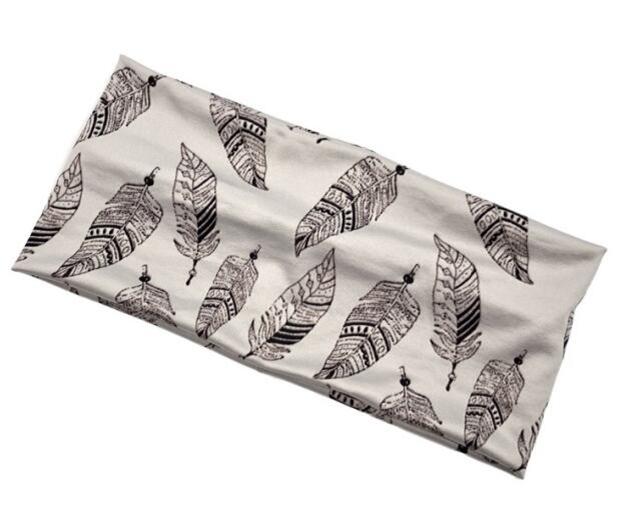 24*11cm 24*11cm 91% polyester+9% spandex printed stretch wide headband