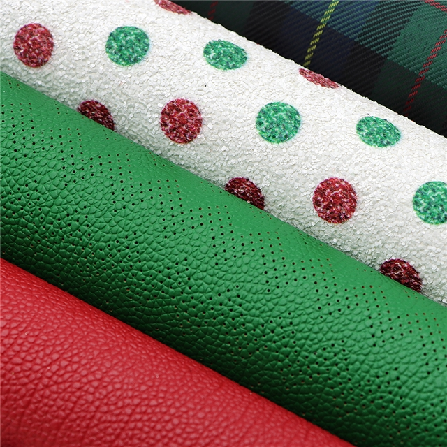 20*34cm 20*34cm synthetic leather Christmas synthetic leather set(5piece/set)