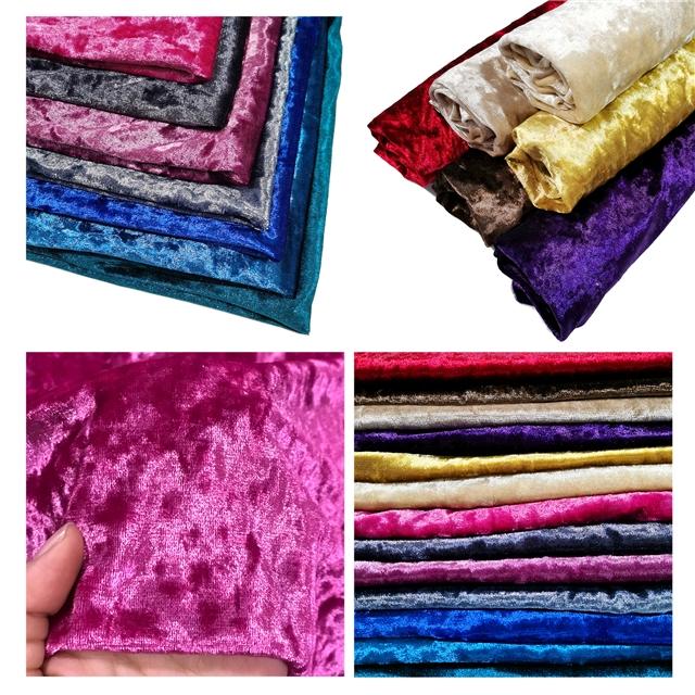 Polyester Ice velvet fabric