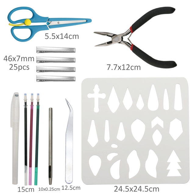 20*33cm synthetic leather set(35piece/set)+tool
