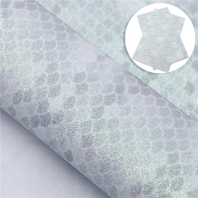 synthetic leather glitter fish scales synthetic leather