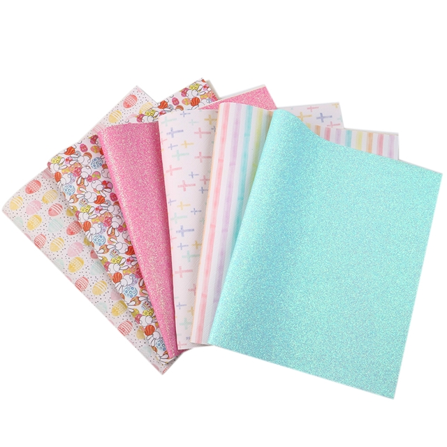 20*34cm 20*34cm synthetic leather Easter synthetic leather set(6pieces/set)