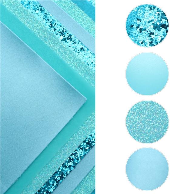 20*33cm synthetic leather 20*33cm blue series synthetic leather set(8pcs/set,2pcs/style)