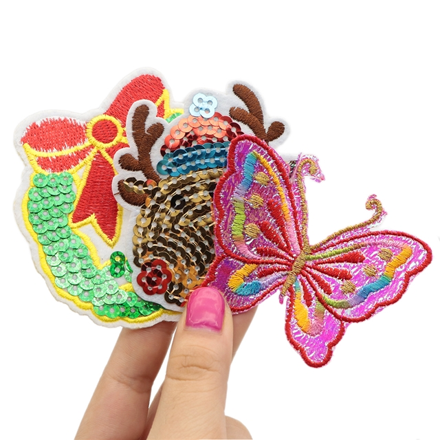embroidery patch set(10pcs/set,pattern randomly)