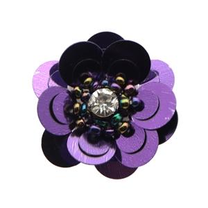rhinestone beaded flower accessories