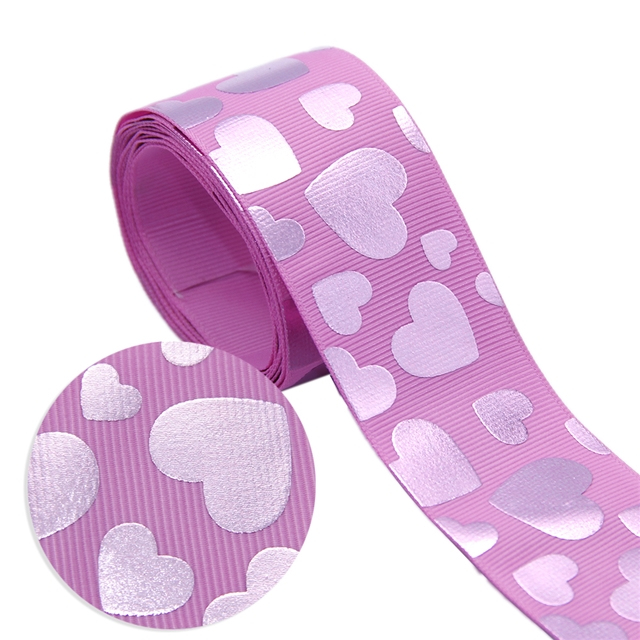 38mm pink gold grosgrain red gold ribbon