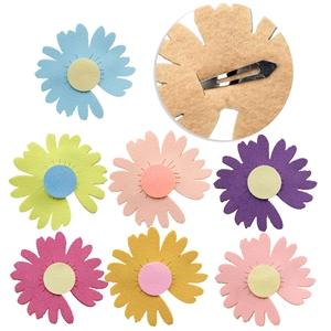 fine glitter daisy non-woven fabric barrettes