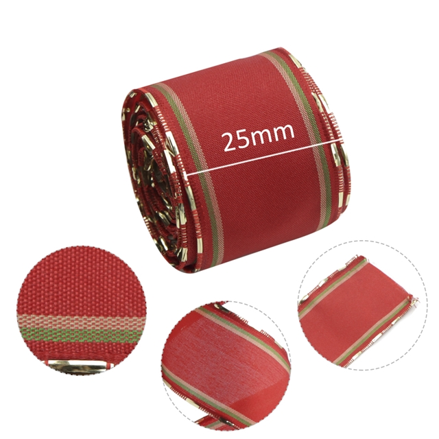 40mm Polyester 40mm Christmas ribbon with wire edge