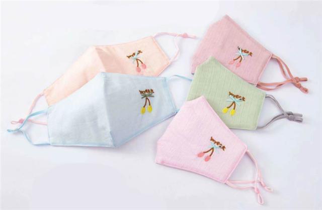 25cm*13cm cotton  three-dimensional folding embroidery cherry cotton cloth adjustable dust mask