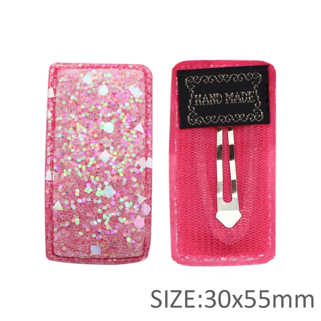 30*55mm 30*55mm glitter barrette