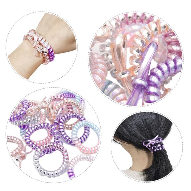 glossy bowknot Spiral Hair Ties