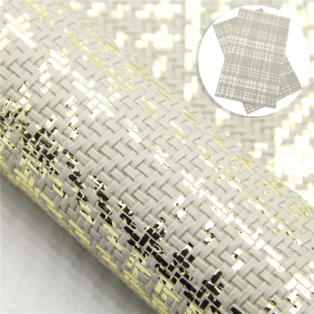 synthetic leather gold weaving bump texture synthetic leather