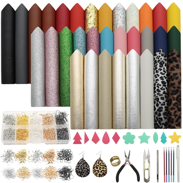 20*33cm synthetic leather set(32piece/set)+tool