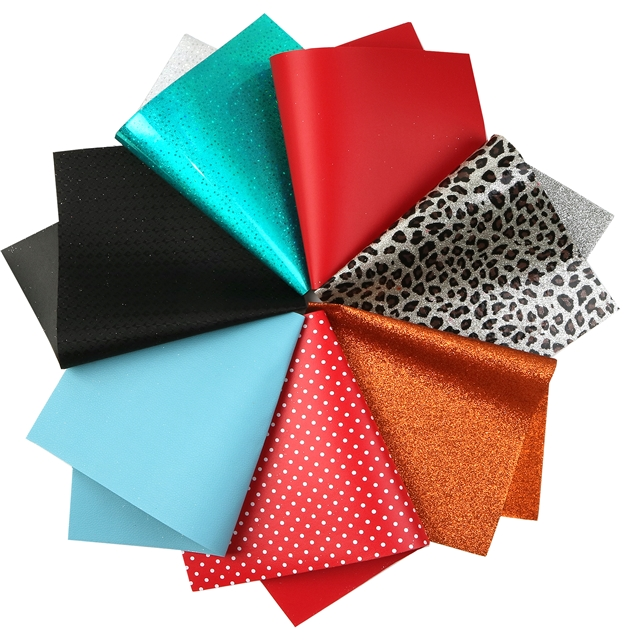 20*33cm synthetic leather ALL KINDS of special process and materials faux leather sets here