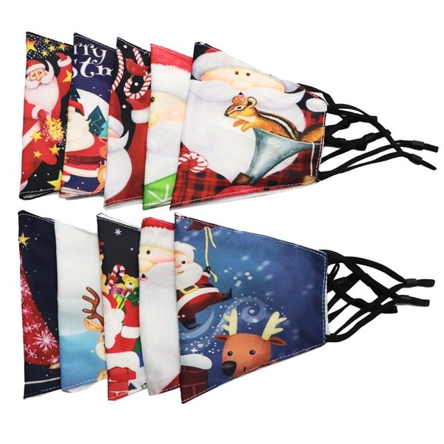 cotton christmas printed dust-proof ear mask set(10pcs/set)