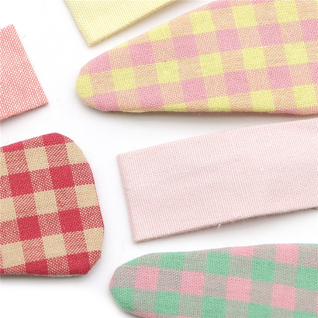 plaid fabric hair clip