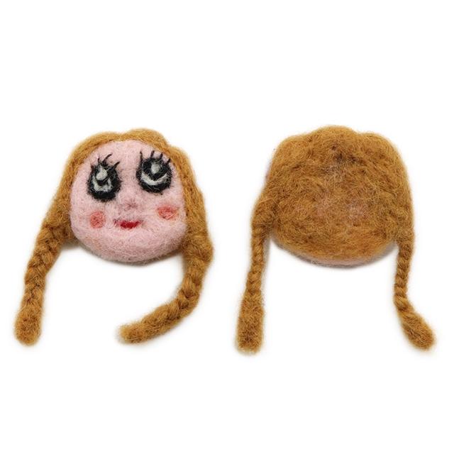 40~50*60~65mm wool felt girl accessories